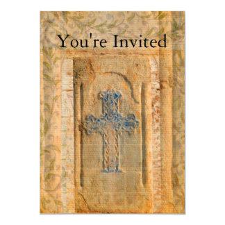 Dekorative Vintage Renaissance-christliches Kreuz 12,7 X 17,8 Cm Einladungskarte