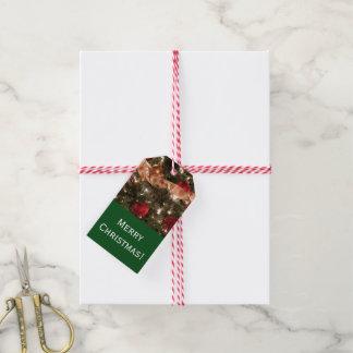 Dekorative Weihnachtsbaum-Geschenk-Umbauten Geschenkanhänger