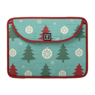 Dekorative Weihnachtsbäume und Sleeve Für MacBook Pro