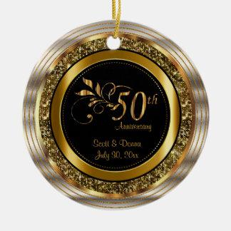 Dekorativer 50. goldener Jahrestag Keramik Ornament