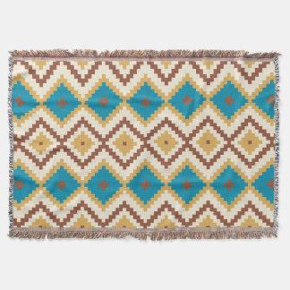 Dekorativer Azteke. Ethnisch. Stammes- Decke