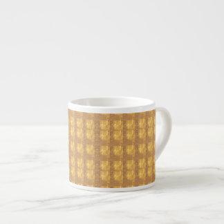 Dekorativer Beschaffenheits-Muster-Schatten Espressotasse