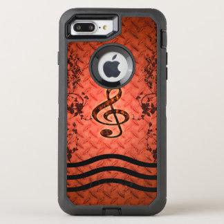 Dekorativer Clef OtterBox Defender iPhone 8 Plus/7 Plus Hülle
