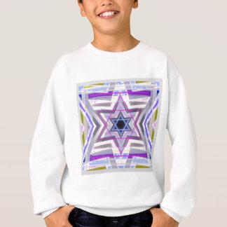 Dekorativer Davidsstern Sweatshirt