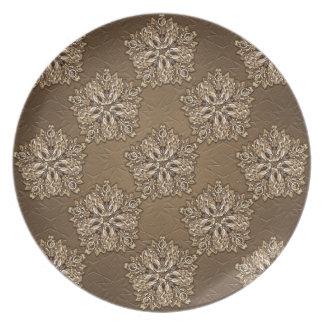 Dekorativer dekorativer Entwurf Flache Teller