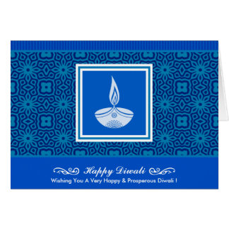 Dekorativer Diwali Entwurf Karte