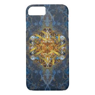 Dekorativer Edelstein-heilige Geometrie-Blume des iPhone 8/7 Hülle