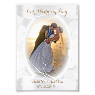 Dekorativer Hochzeits-Tag - Foto-Schablone Fotografischer Druck