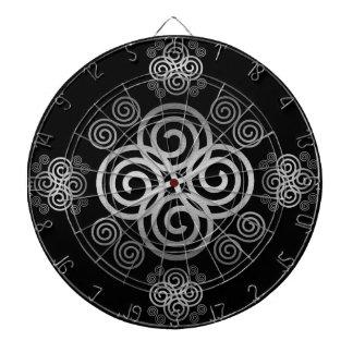 Dekorativer keltischer Entwurf Dartscheibe