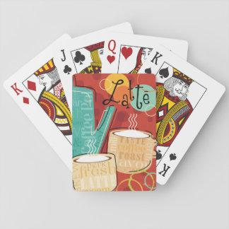 Dekorativer Latte Topf und Schalen Spielkarten