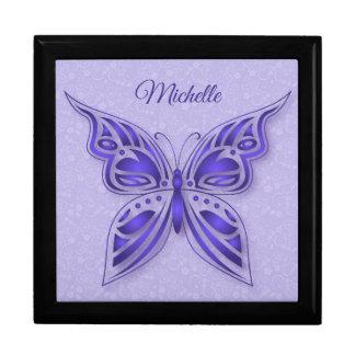Dekorativer lila Schmetterling Geschenkbox