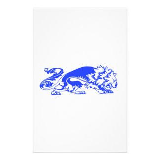 Dekorativer Löwe Briefpapier