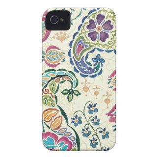 Dekorativer Pfau und bunte Blumen Case-Mate iPhone 4 Hülle