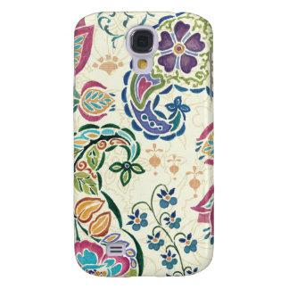 Dekorativer Pfau und bunte Blumen Galaxy S4 Hülle