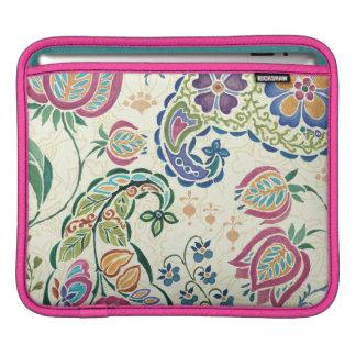 Dekorativer Pfau und bunte Blumen Sleeve Für iPads