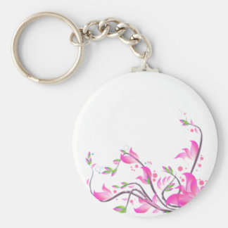dekorativer Schutz der schönen rosa Blumen - Schlüsselanhänger