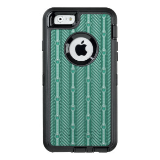 Dekoratives aquamarines Muster OtterBox iPhone 6/6s Hülle