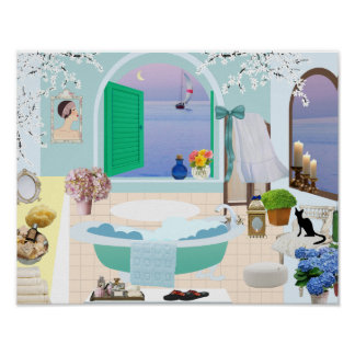 Dekoratives Badezimmer Plakat Mit Poster