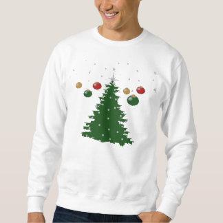 Dekoratives Baum-Weihnachtshässliche Strickjacke Sweatshirt