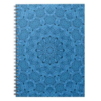 Dekoratives blaues Vintages Kaleidoskop-   Spiral Notizblock