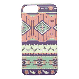 Dekoratives buntes Muster in der aztekischen Art iPhone 7 Hülle