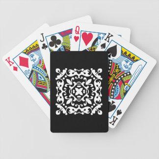 Dekoratives Damast-Schwarzweiss-Motiv Bicycle Spielkarten