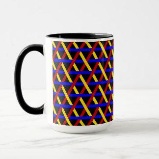 Dekoratives geometrisches Fliesen-Mosaik-Muster #3 Tasse