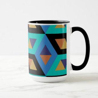 Dekoratives geometrisches Fliesen-Mosaik-Muster #9 Tasse