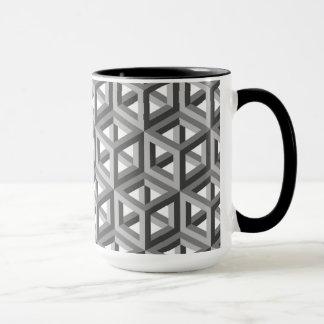 Dekoratives geometrisches Fliesen-Mosaik-Muster Tasse