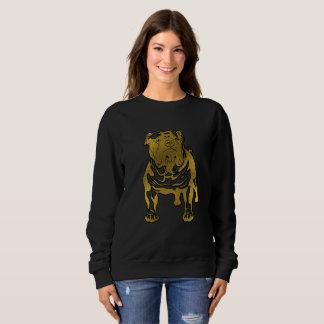 Dekoratives Goldenes geprägt - englische Bulldogge Sweatshirt