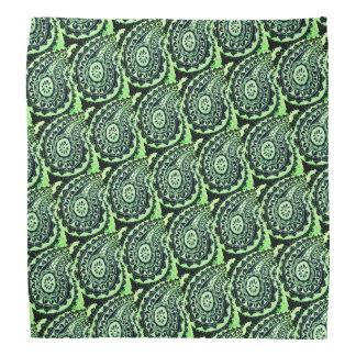 Dekoratives grünes Blumenpaisley Halstuch