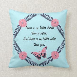 Dekoratives Kissen-Schwester-Zitat fertigen Kissen