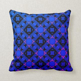 Dekoratives klares blaues Kaleidoskop Kissen