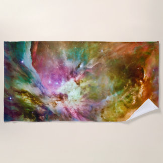 Dekoratives Orions-Nebelfleck-Galaxie-Raum-Foto Strandtuch