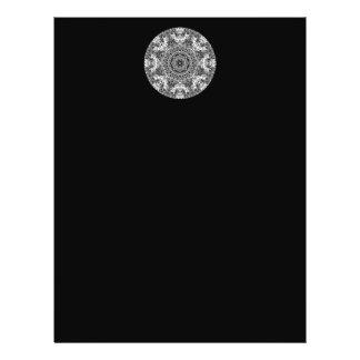 Dekoratives rundes Schwarzweiss-Muster 21,6 X 27,9 Cm Flyer
