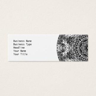 Dekoratives rundes Schwarzweiss-Muster Mini Visitenkarte