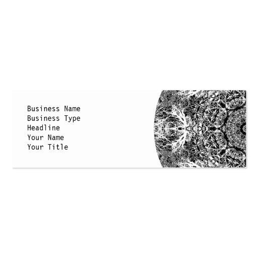 Dekoratives rundes Schwarzweiss-Muster Visitenkarten