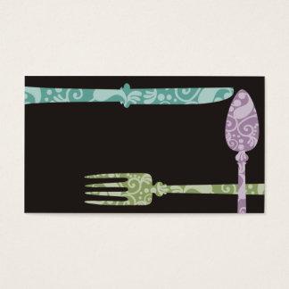 dekoratives speisendes visitenkarte