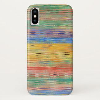 Dekoratives Streifen-Mosaik-Muster iPhone X Hülle