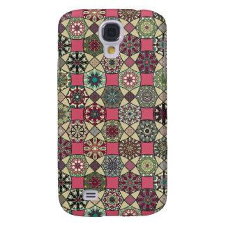 Dekoratives Vintages buntes Muster mit Patchwork Galaxy S4 Hülle