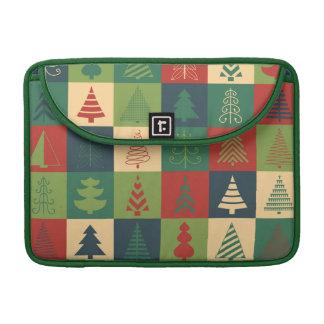 Dekoratives Weihnachtsbaum-Muster Sleeve Für MacBook Pro