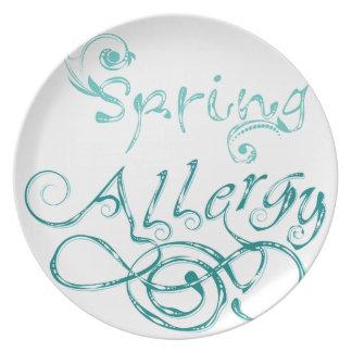 Dekoratives Wort Allergy2 Melaminteller