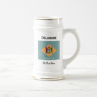 Delaware das erste Staats-Bier Stein Bierglas