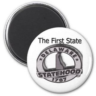 Delaware der erste StaatStatehood Runder Magnet 5,7 Cm