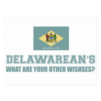Delaware-Entwurf Postkarte