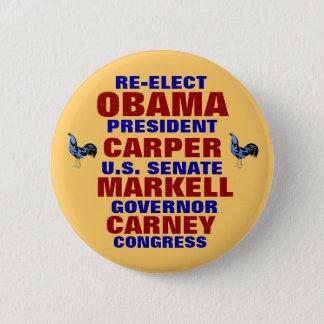 Delaware für ObamaCarper Carney Markell Runder Button 5,7 Cm