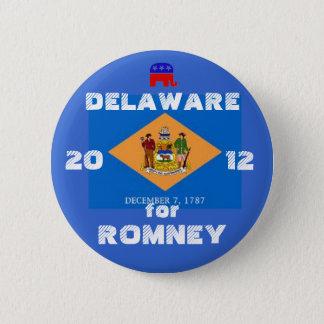Delaware für Romney 2012 Runder Button 5,7 Cm