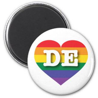 Delaware-Gay Pride-Regenbogen-Herz - große Liebe Runder Magnet 5,7 Cm