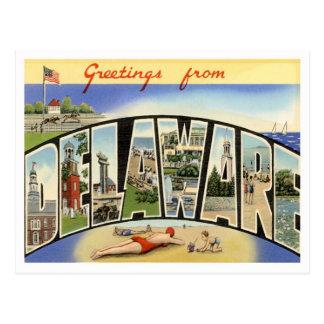 Delaware-Grüße von US-Staaten Postkarte