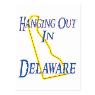 Delaware - heraus hängend postkarte